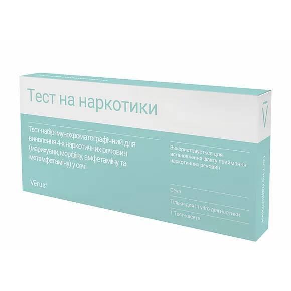 Тест на наркотики (марихуану, морфин, амфетамин и метамфетамин)