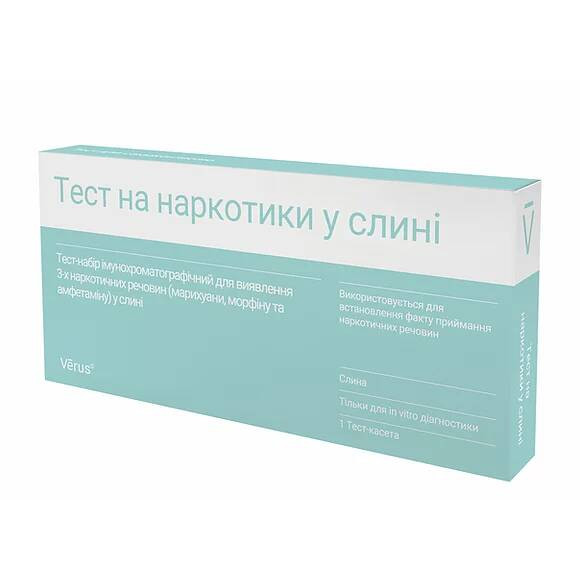 Тест на наркотики в слюне (марихуана, морфин и амфетамин)