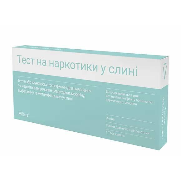 Тест на наркотики в слюне (марихуана, морфин, амфетамин и метамфетамин)